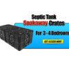 Septic Tank Soakaway Crates 3-4 Bedroom