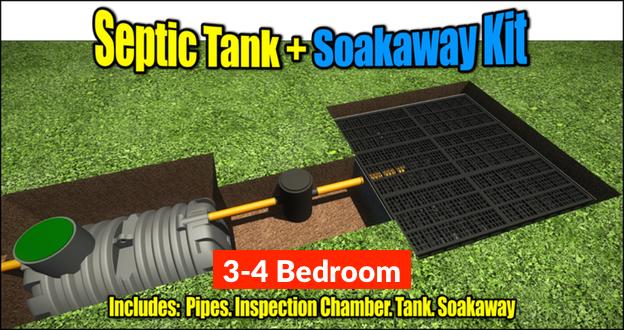 Septic Tank Soakaway Kit 3-4 Bedroom