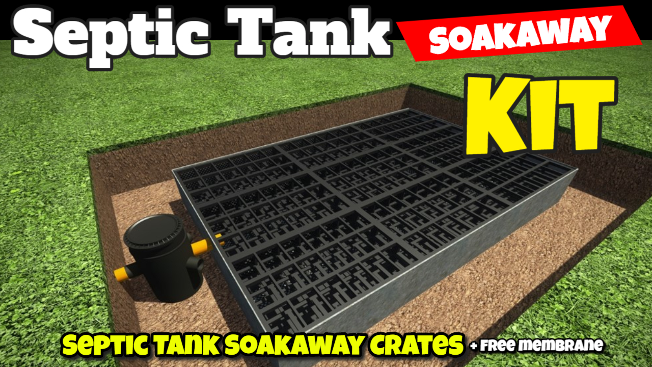 septic tank soakaway crates installed