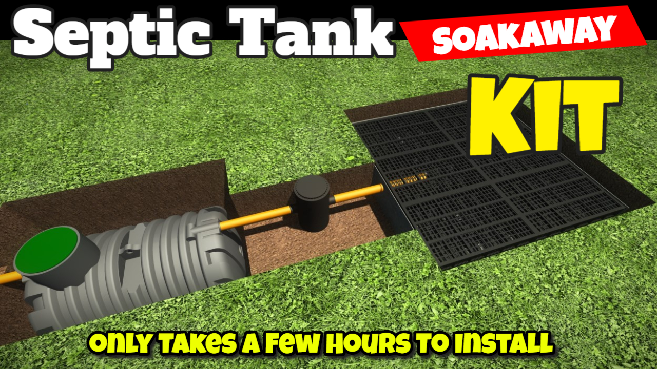 septic tank soakaway kit installed
